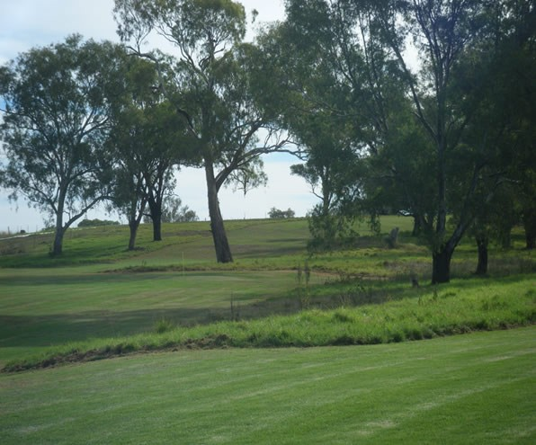 Royal Farrer Golf course looking across fairways and trees